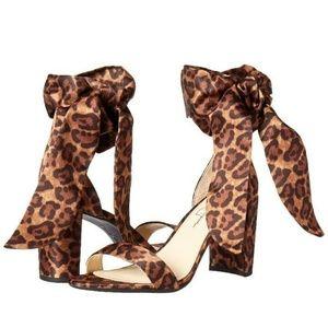 Jessica Simpson Narella LEOPARD Ankle Tie Heels 8